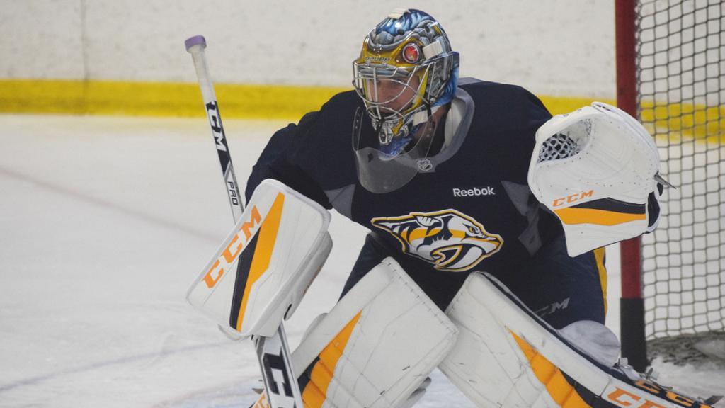 Pekka rinne returns to preds practice nhl com